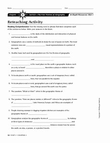 Five themes Of Geography Worksheet Elegant Chapter 1 Section 1 the Five themes Of Geography