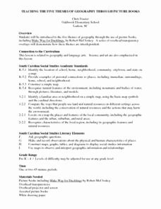 Five themes Of Geography Worksheet Fresh Teaching the Five themes Of Geography Through Picture