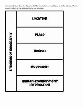 Five themes Of Geography Worksheet Luxury Image Result for Five themes Of Geography Worksheet