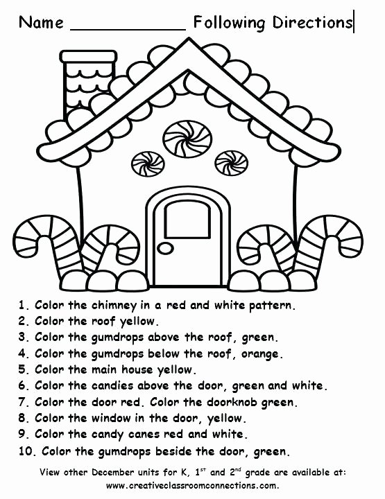 Following Directions Worksheet Kindergarten Best Of Free Following Directions Worksheets – Kinchen