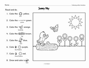 Following Directions Worksheet Kindergarten Best Of Results for Following Directions Worksheet