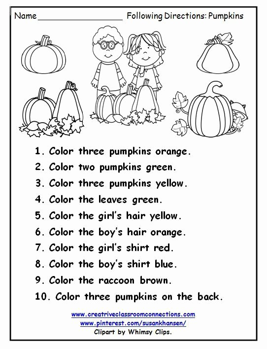 Following Directions Worksheet Kindergarten Elegant Following Directions Freebie