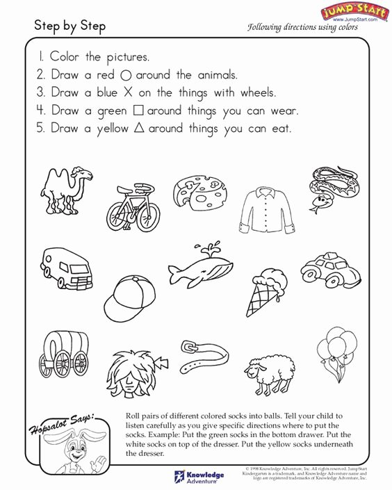 Following Directions Worksheet Kindergarten Fresh Step by Step – Critical Thinking and Logical Reasoning