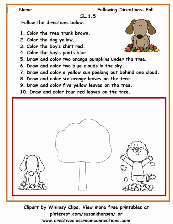 Following Directions Worksheet Kindergarten Lovely 12 Best Following Directions Images On Pinterest