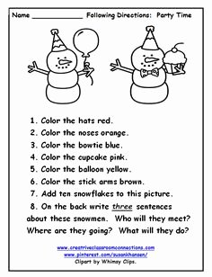 Following Directions Worksheet Kindergarten Lovely This Free Worksheet Allows Students to Follow Directions