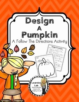 Following Directions Worksheet Middle School Best Of Design A Pumpkin Following Directions