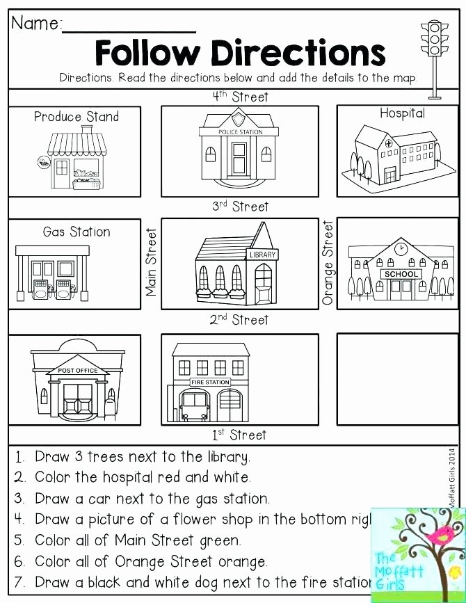 Following Directions Worksheet Middle School Elegant Free Following Directions Worksheets – Kinchen