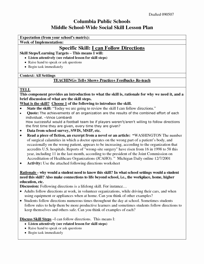 Following Directions Worksheet Middle School Fresh Following Directions Worksheets Middle School the Best