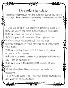 Following Directions Worksheet Middle School Inspirational Fun Way to Open A Discussion About why It S Important to