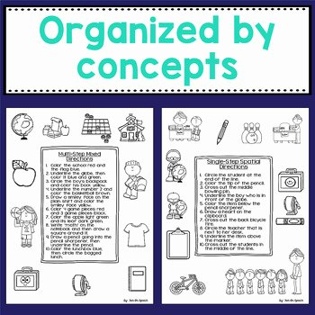 Following Directions Worksheet Middle School Luxury Back to School Following Directions Worksheets by Fun In