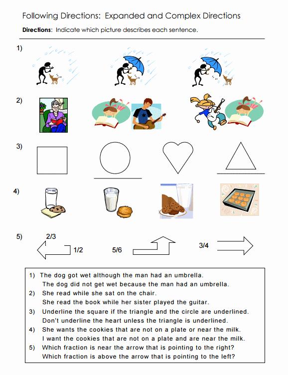 Following Directions Worksheet Middle School New Following Directions Worksheets Middle School the Best