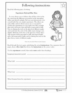 Following Directions Worksheet Trick Awesome Following Directions Worksheet Trick Siteraven