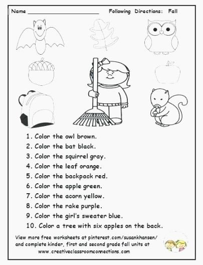 Following Directions Worksheet Trick Elegant Best Smart Following Directions Printables