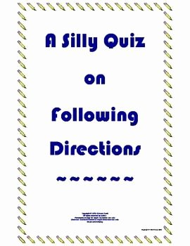 Following Directions Worksheet Trick Fresh Following Directions Worksheet Trick High School 1000