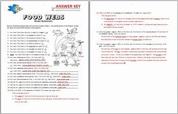 Food Chain Worksheet Answers Fresh Food Webs Review Worksheet Editable by Tangstar