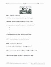 Food Inc Movie Worksheet Answers Awesome Chapter 9 Test Review Key Mastery Test A Page 1 Name Gga