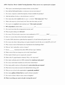 Food Inc Movie Worksheet Answers Luxury Studylib Essys Homework Help Flashcards Research