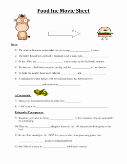 Food Inc Movie Worksheet Awesome Beef Slaughter Model Process Category Beef Slaughter