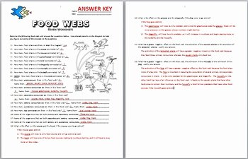 Food Web Worksheet Answers Awesome Food Webs Review Worksheet Editable by Tangstar