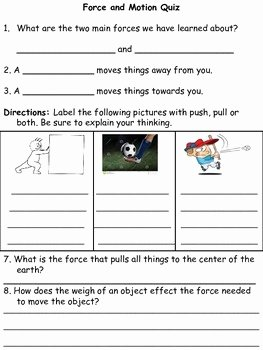Force and Motion Worksheet Answers Lovely 3rd Grade forces and Motion Quiz and Test by Rachel Harris