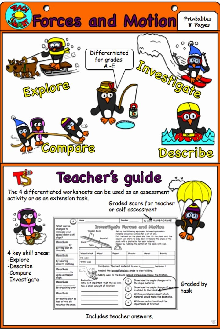 Force and Motion Worksheet Answers Unique 22 Best Inquiry Push and Pull Images On Pinterest