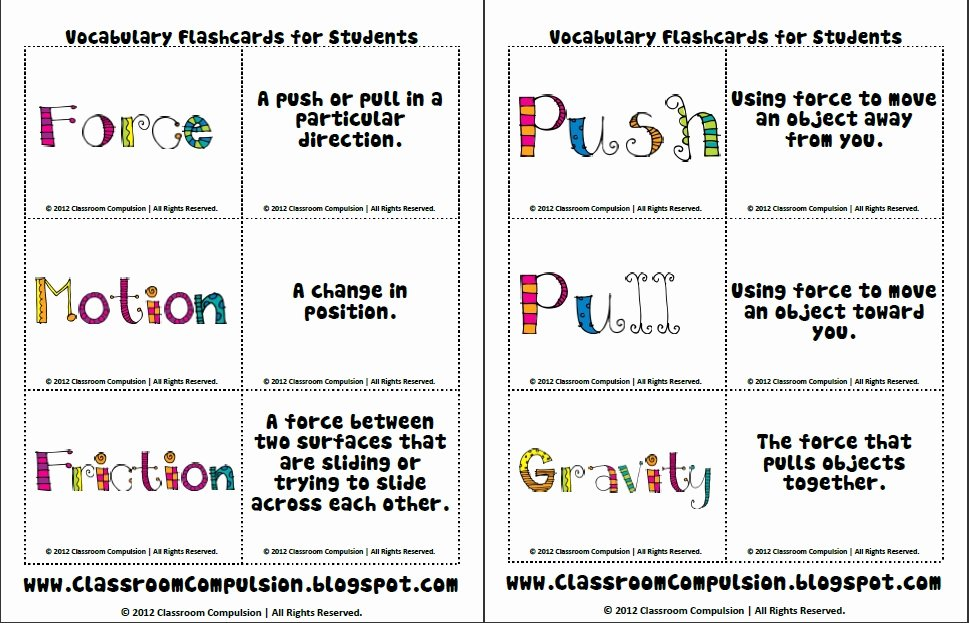 Forces and Motion Worksheet Beautiful Classroom Pulsion A Colorful Day
