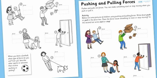 Forces and Motion Worksheet Lovely Worksheets for force and Motion First Grade Google