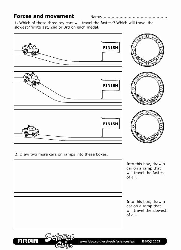 Forces Worksheet 1 Answer Key Fresh Bbc Schools Science Clips forces and Movement