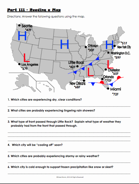 Forecasting Weather Map Worksheet 1 Awesome Weather Worksheet New 910 Weather Symbols Worksheet 4th Grade
