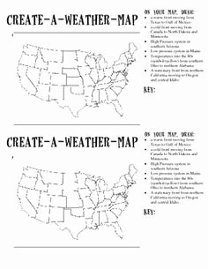 Forecasting Weather Map Worksheet 1 Beautiful Create A Weather Map Free From Tpt