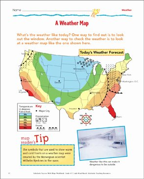 Forecasting Weather Map Worksheet 1 Best Of A Weather Map Map Skills