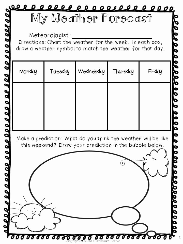 Forecasting Weather Map Worksheet 1 Elegant Kinds Of Weather and the Four Seasons – Science Blog