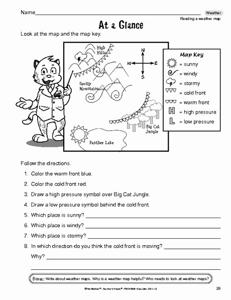 Forecasting Weather Map Worksheet 1 Elegant Reading A Weather Map Identification