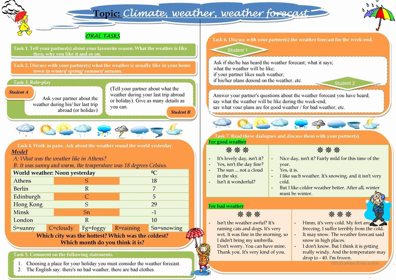 Forecasting Weather Map Worksheet 1 Lovely Weather forecasting Worksheet
