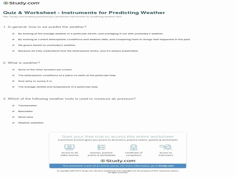 Forecasting Weather Map Worksheet 1 Luxury forecasting Weather Map Worksheet 1 Answers Free