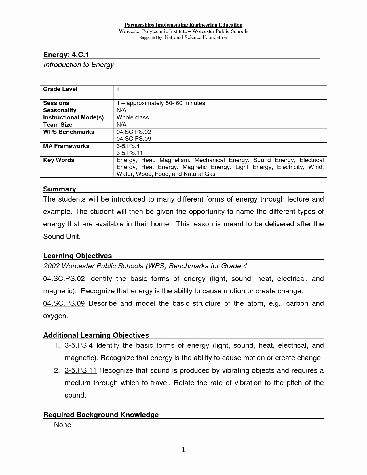 Forms Of Energy Worksheet Best Of 17 Best Of Types Energy Worksheet Different