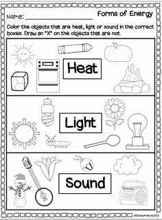 Forms Of Energy Worksheet Best Of Science forms Of Energy Matching Cut and Paste