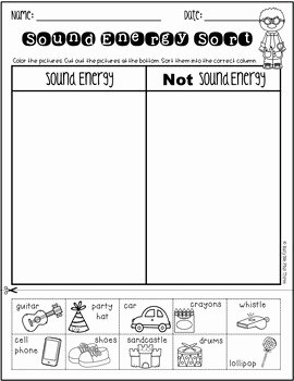 Forms Of Energy Worksheet Best Of sound Energy sort forms Of Energy Worksheet K 1 2