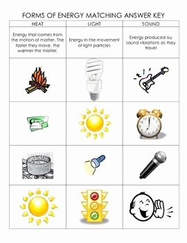 Forms Of Energy Worksheet Luxury Science forms Of Energy Matching Cut and Paste