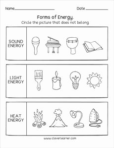 Forms Of Energy Worksheet Luxury sources Of Energy Printables and Worksheets for First