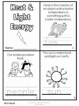 Forms Of Energy Worksheet Unique forms Of Energy Activities sound Heat Light Freebie