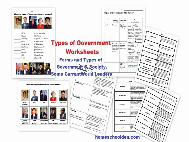 Forms Of Government Worksheet Inspirational forms Government Worksheet Free Printable Worksheets