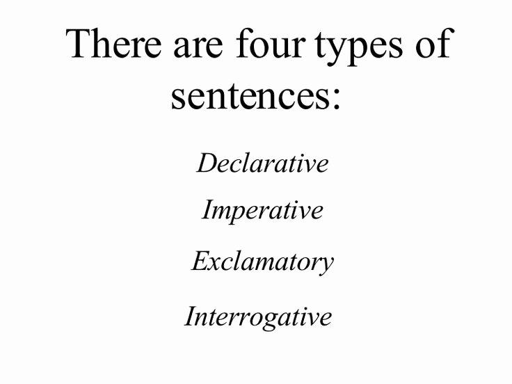 Four Types Of Sentences Worksheet Best Of 14 Best Of 4 Types Sentences Worksheets 4