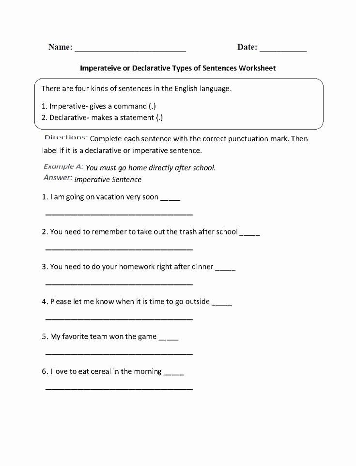 Four Types Of Sentences Worksheet New Pin On Englishlinx Board