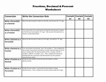 Fraction Decimal Percent Conversion Worksheet Best Of Summer Skills Worksheets All Saints