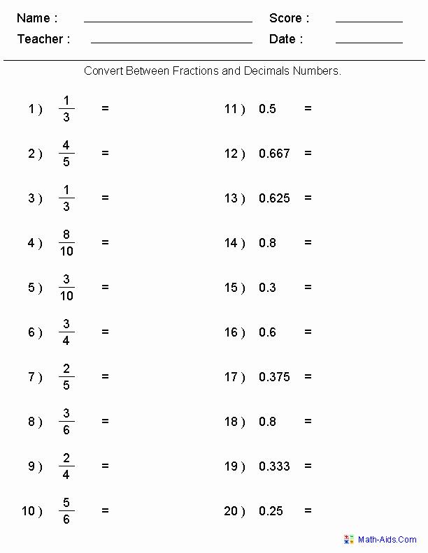 Fraction Decimal Percent Worksheet Pdf Best Of Pin On Math Teaching