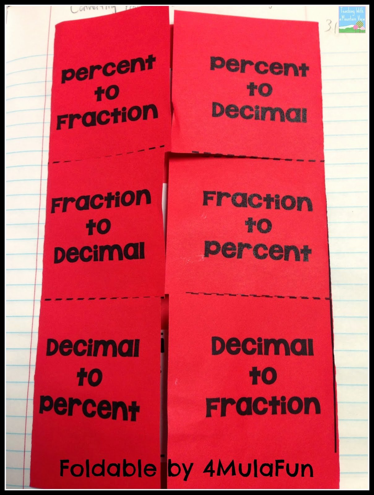 Fraction Decimal Percent Worksheet Pdf New Teaching with A Mountain View Percents Decimals