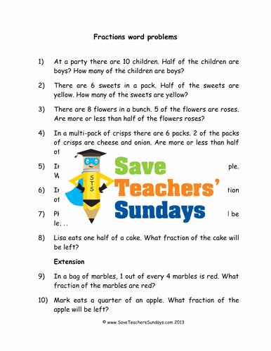 Fractions Greater Than 1 Worksheet Awesome Fractions Word Problems Ks1 Worksheets Lesson Plans and
