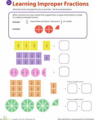 Fractions Greater Than 1 Worksheet Unique Introduction to Improper Fractions 1