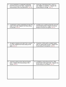 Free Body Diagram Worksheet Answers Beautiful Worksheet Drawing Free Body or force Diagrams by Science